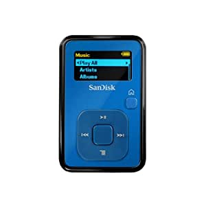 SanDisk Sansa Clip+ 4 GB MP3 Player (Blue) (Discontinued by Manufacturer)