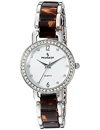 Peugeot Women's 7083BR Swarovski Crystal Analog Display Quartz Brown Watch