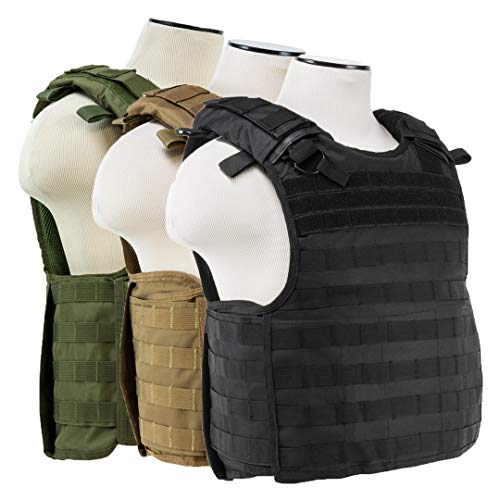 ATG Quick Release Tactical Vest MOLLE and PALS Fully Adjustable M-2XL Law Enforcement (Green)