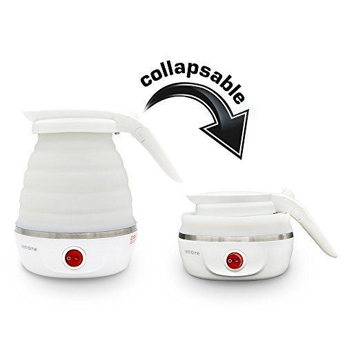 Foldable Electric Kettle for Travel with Travel Adapter -...