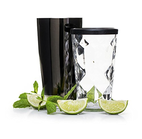 (Sagaform 5017612 Boston shaker with glass, Black)