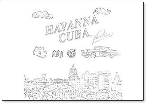 Imán para nevera con dibujo de Havanna, Cuba: Amazon.es: Hogar