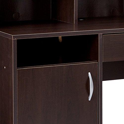 042666111553 - Sauder Beginnings Desk with Hutch, Cinnamon Cherry Finish carousel main 3