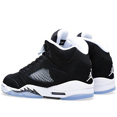 Nike Air Jordan 5 Retro (GS), Sneaker, Ragazzo Black, Cool Grey-white