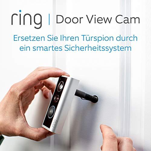Ring Door View Cam | Video-Türklingel, die Ihren Türspion durch ein 1080p-HD-Video mit Gegensprechfunktion ersetzt | Für Türenstärke 34mm bis 55mm
