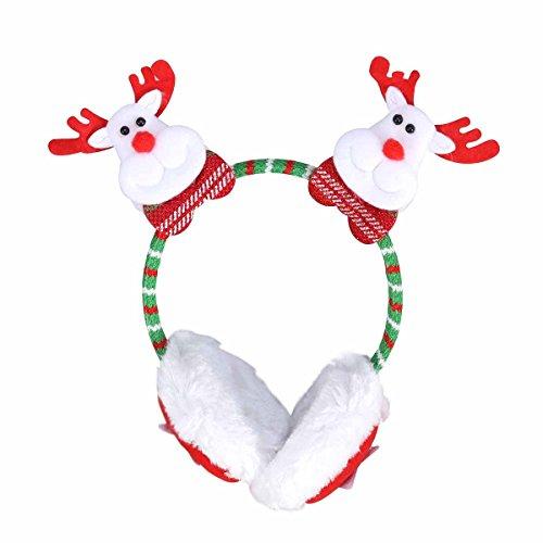 PRETYZOOM Christmas Reindeer Earmuffs Winter Furry Ear Warmer