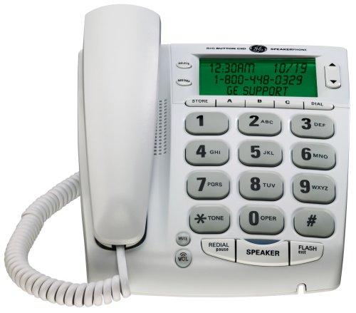 GE 29569GE1 Corded Big Button Speakerphone with Extra Large LCD Display/CID/Call Waiting (Speakerphone Cid Lcd)
