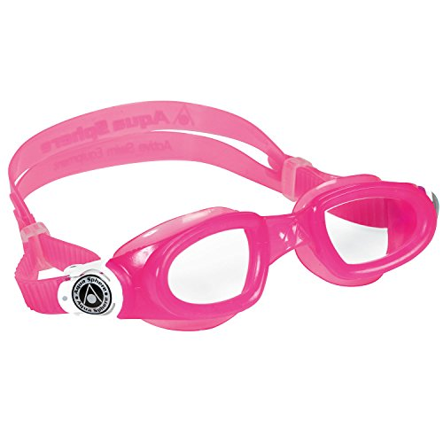 Aqua Sphere Moby Kid Swim Clear Lens Goggles, (Aqua Sphere Goggle)