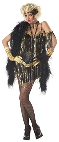 Fancy 20's Jazzy Baby Fashion Flapper Adult Costume (Infant Pink Flapper Costume)