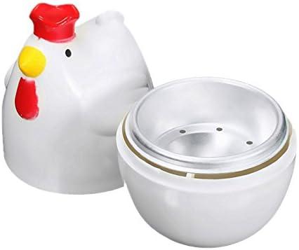Naliovker Chick-Shaped 1 gekochtes Ei Dampfgarer Dampfgarer Stoessel Mikrowelle Eierkocher Kochutensilien Kuechenhelfer Zubehoer Werkzeuge