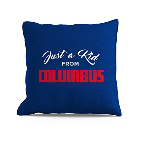 Columbus Pillow  Ohio Pillow  Columbus Throw  Blue Pillow  Gray Pillow  Sofa Pillow  Couch Throw  Toss Pillows  Decorative Throw