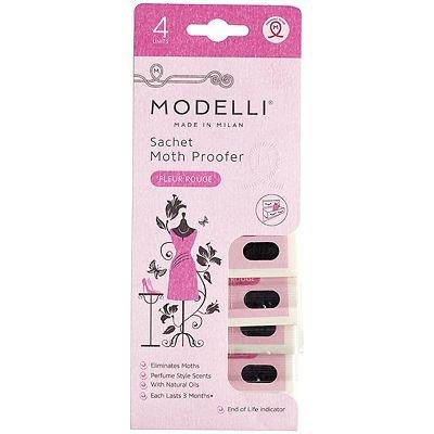 Modelli Moth Proof Fragranced Sachets Pack of 4 Fleur Rouge