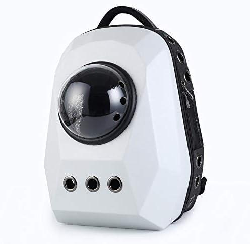 AXRXMA 新しい便利な特大ペット携帯スペースバッグペット犬旅行スペースバックパック (Color : White)