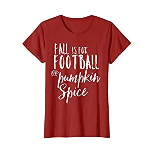 Womens Pumpkin Spice Shirt Fall and Football XL Cranberry
