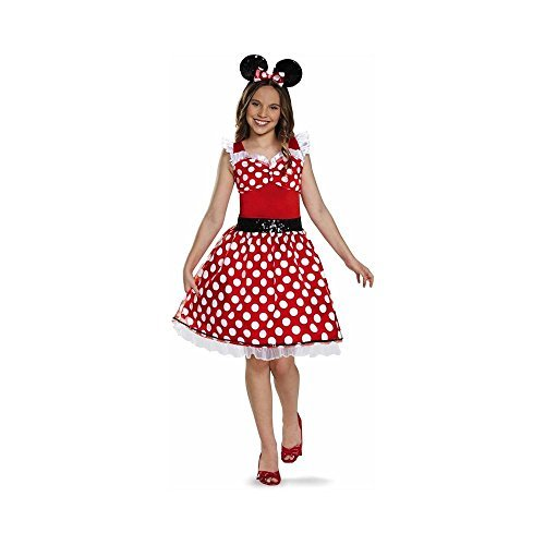 Disguise Red Minnie Mouse Tween Halloween Costume Girl Large 039897945 ()