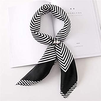 Hitsan Incorporation Women Striped Square Scarf Silk Scarves Dots