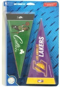 NBA Industries NBA Mini Pennant Set, Small, Black by Rico by Rico