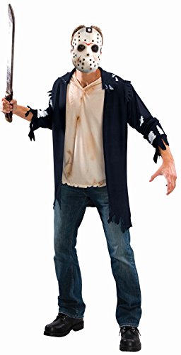 Friday 13 Halloween Costumes (Rubie's Men's Friday The 13th: Jason Costume, AS SHOWN,)