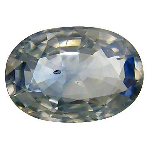 (1.36 ct Oval Cut (8 x 6 mm) Ceylon Blue Sapphire Genuine Loose Gemstone)