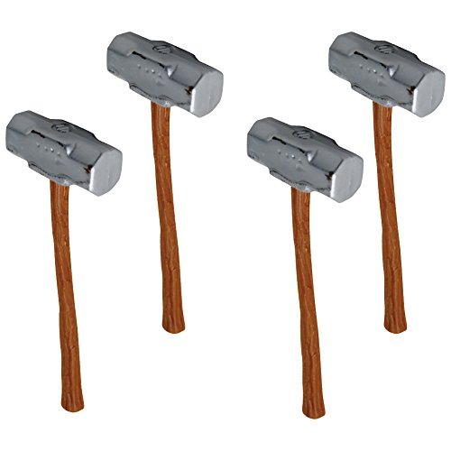 Set of 4 Sledgehammers for WWE Wrestling Action Figures by Figures Toy Company
