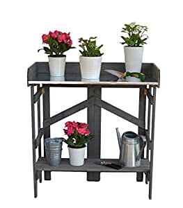 VYTAL Folding Potting Bench / Event Table (Gray)