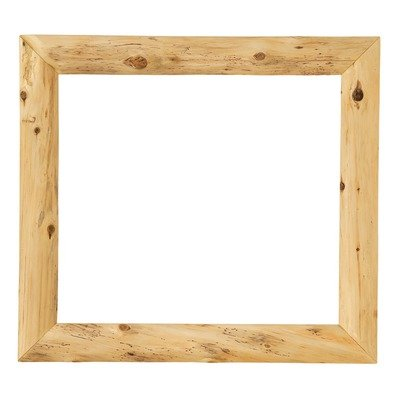 "Fireside Lodge Furniture 12911-NG Cedar Mitered Corner Mirror without Glass, 36"" W x 36"" H, Traditional Cedar"
