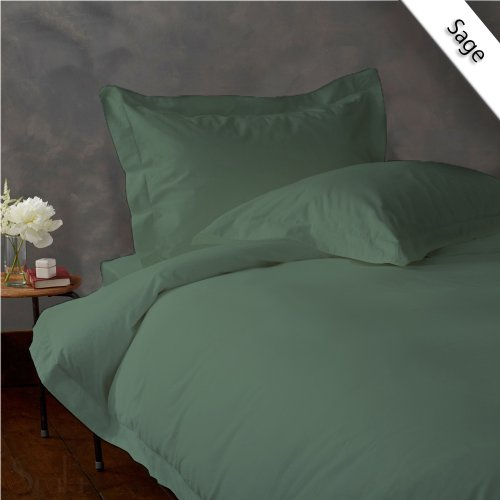UPC 889318165539, New Luxurious 500 Thread Count 3PC Duvet Set in Solid Sage Twin 100% Egyptian Cotton