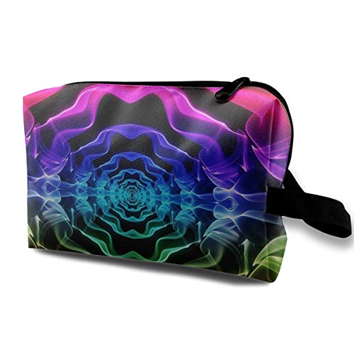 Lovesofun Colorful Dazzling Smog Art Portable Travel Storage Bags Luggage Cosmetic Packing Bag with Zipper for Travel Cubes Set for Travel