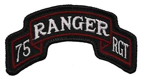 75th Ranger Regiment Scroll Patch Full Color 75th Ranger Regiment Patch