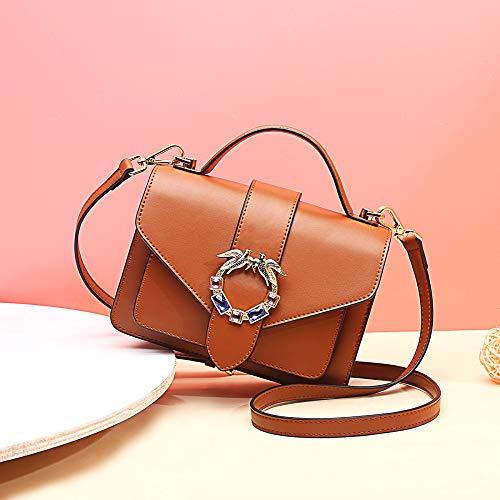 Moda A Borsa Versione Coreana Piccola In Brown Pelle Tracolla Quadrata qa1xTvwE