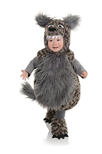 Big Bad Wolf Costume Child (Underwraps Baby's Wolf Belly, Dark Grey, X-Large)