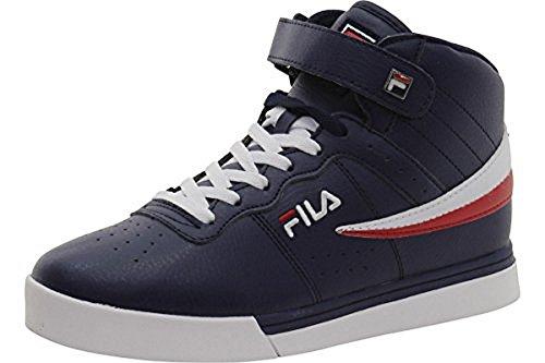Fila Men's Vulc 13 Mid Plus 2 Retro Sneaker, Navy/White-Red/White, 12 D(M) US