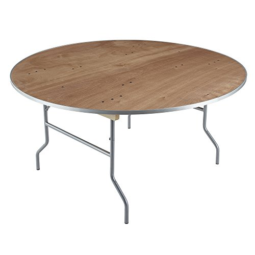 Iceberg 56260 Banquet Plywood Folding Table, Natural, 60 Inch ()