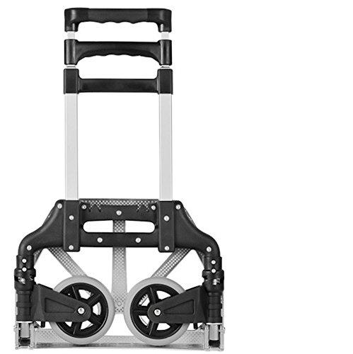 ASL トロリー調節可能なポータブルアルミ合金トロリー車ショッピングカート荷物車小型プルカート HAPPY ( 色 : ブラック ) B071NJ5H19 ブラック