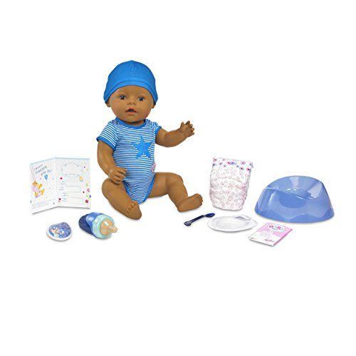 Baby Born Interactive Boy Doll- Dark Brown Eyes