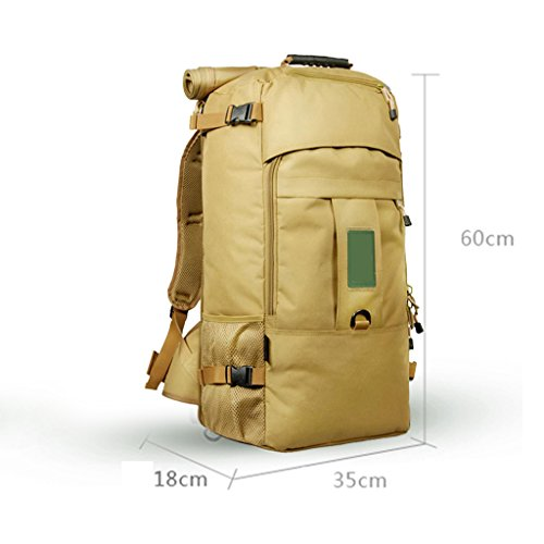Shoulder Diagonal Shoulder Trekking Women Men Universal Sports Yellow Oxford 60L Backpack Seasons Sports Size And Black Mountaineering 50L Bag Four Tactical Textile Color Bag 50L zyy Camping Outdoor wYXqIB