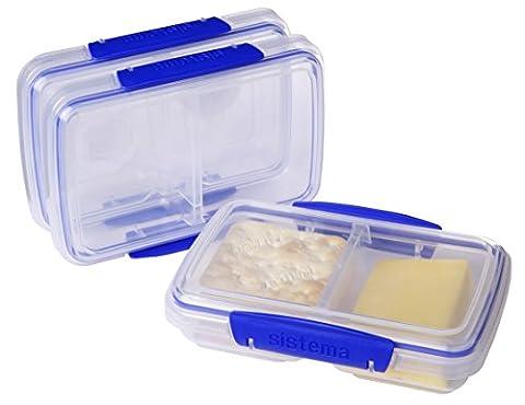 Sistema Klip It Collection Small Split Food Storage Containers, 1.5 Cup each, Set of 3 (Sistema Klip It Split)