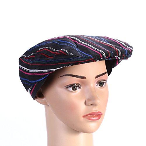Tinksky Cooking Chef Hat Cook Cap Waiter Baker Hat Hotel Bartender Beanie Hats for Men Women (Black Strip)