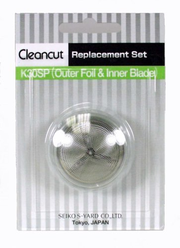 Cleancut K30SP - Foil replacement kit for ES412 personal shaver - Blade and foil replacement head included by Cleancut