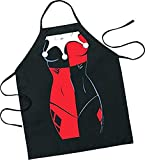 ICUP DC Comics - Harley Quinn Be The Character Adult Size 100% Cotton Adjustable Black Apron
