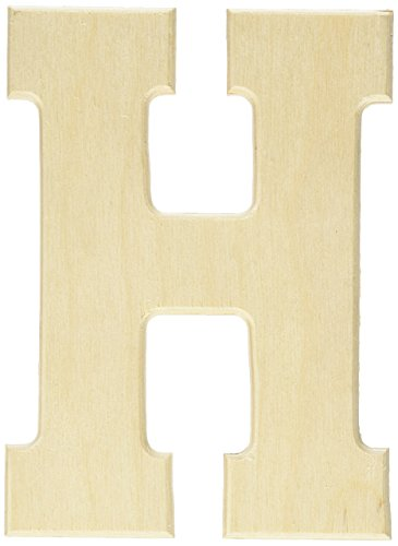MPI Baltic Birch University Font Letters and Numbers, 5-Inch, Letter-H (Craft Wood Inch Letters 5)