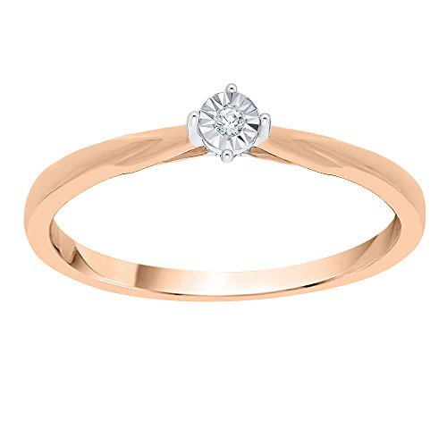 KATARINA Diamond Accent Promise Ring in 10K Rose Gold (G-H, I2-I3) (Size-6)