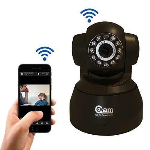 Coolcam iSmart Wireless WiFi IP Camera Smartphone CCTV Security Surveillance 2way Audio Camera with Night Vision and Motion Detect Free P2P Cloud Connection Service with QR Code