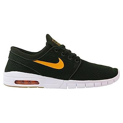 Nike Men's Stefan Janoski Max Sequoia/Circuit OrangeSneakers - 6 D(M) US