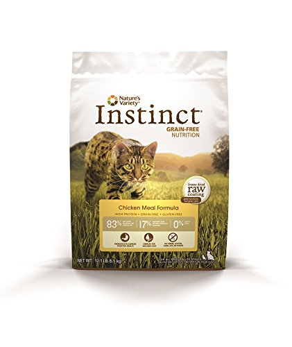 Natures Variety Instinct Grain-Free Chicken Meal Formula Dry Cat Food 12.1 lb. Bag