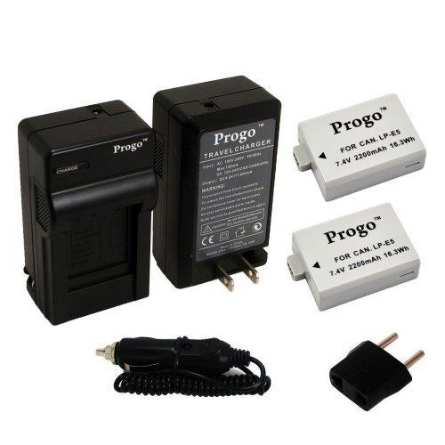 Progo Battery Charger Canon LP E5