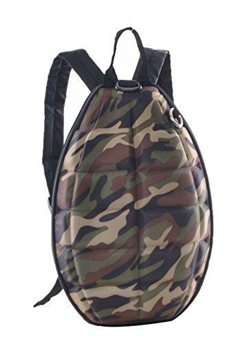 - Genda 2Archer PU Leather Turtle Shell Little Kids Backpack Men Women Fashion Grenade Shoulder Bag (Camouflage)