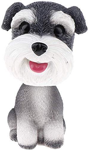 FRECI Simulation Shaking Head Dog Bobble-Head Dog Toy for Car Interior Dashboard Ornament - Schnauzer