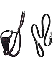 Halti No Pull Harness and Training Lead Combination Pack, Stop Dog Pulling on Walks with Halti, Includes Medium Halti No Pull Harness and Double Ended Lead