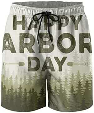 fc3106f370 UTYHR Happy Arbor Day Poster Mens Swimming Shorts Designer Swim Trunks  Quick Dry Beach Shorts Swimsuits